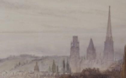 Vue des bords de la Seine à Rouen