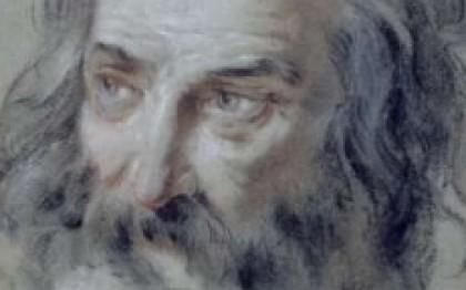 Head of bearded old man