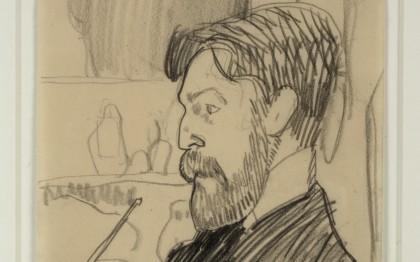 Paul Alexandre, de profil, une pipe à la main