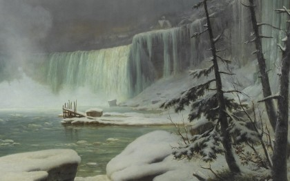 The Niagara Falls in Winter
