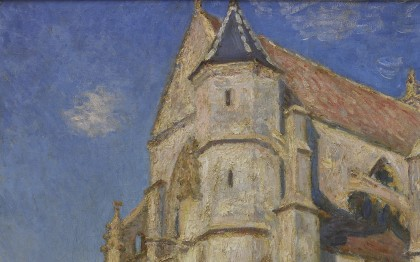 The Church at Moret in the Morning Sun