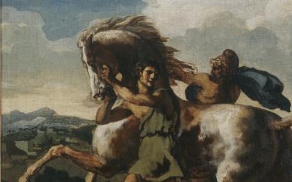 Cheval arrêté par des esclaves