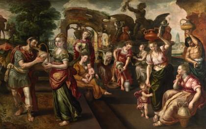 Eliézer et Rebecca à la fontaine