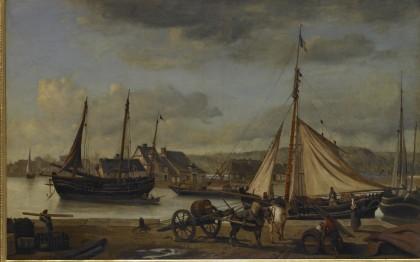 Les Quais marchands de Rouen ou L'Avant-port de Rouen