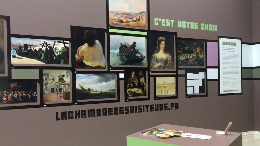 La chambre des visiteurs : écrivez les cartels des oeuvres !