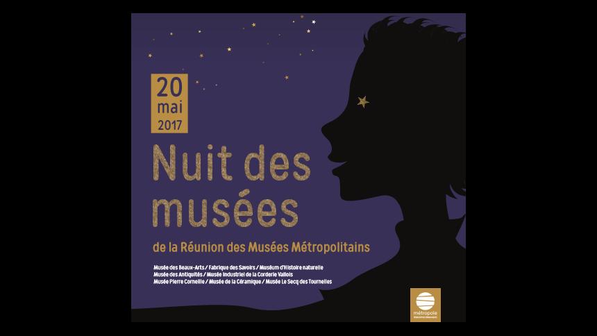 Samedi 20 mai 2017 : Nuit des musées au Musée des Beaux-Arts
